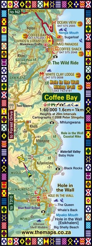 Coffee Bay / Hole in the Wall Map | WILD COAST