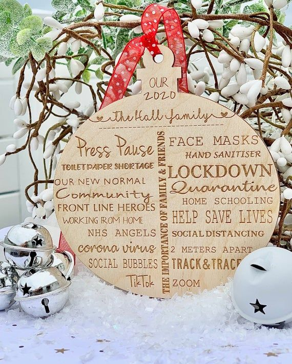 Remember The Year That Was The Madness Of 2020 With This Bauble Full Of Memories Mom Funny Christmas Ornaments Personalised Snow Globes Personalized Christmas