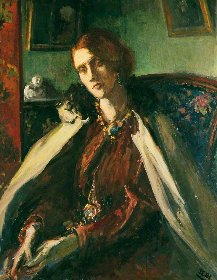 Julia Prinsep Stephen (mother of Virginia Woolf and Vanessa Bell) - Jacques-Emile Blanche (1861–1942)