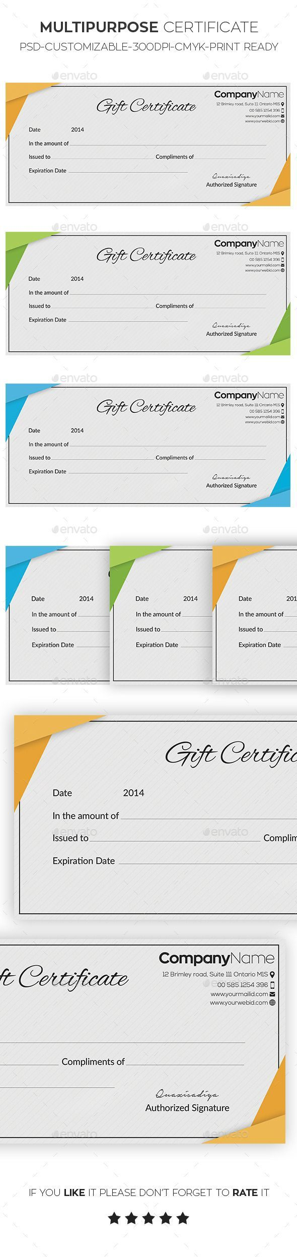 Best 25 website certificate ideas on pinterest certificate of gift certificate template psd download here httpgraphicriver xflitez Images