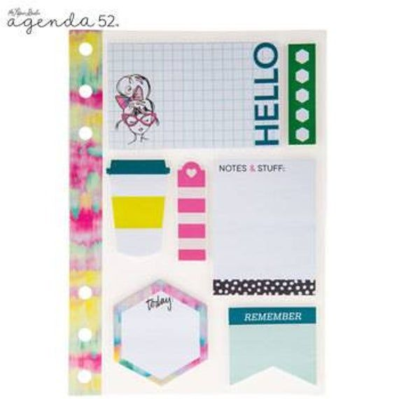 Watercolor Love Sticky Notes Scrapbook Paper Crafts Sticky