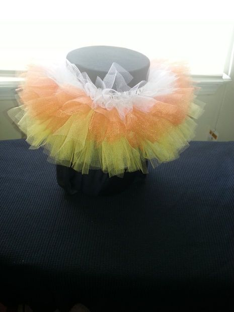 Picture of EASY Candy Corn Halloween TuTu for Baby/Toddler
