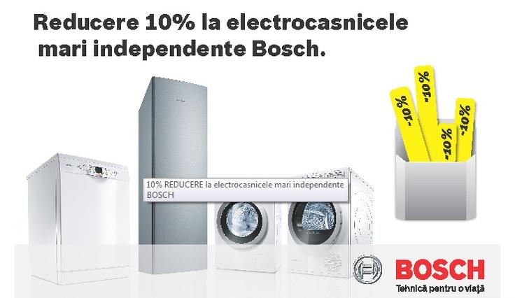 10% reducere la electrocasnicele mari indepedente Bosch   Zgarciti.ro