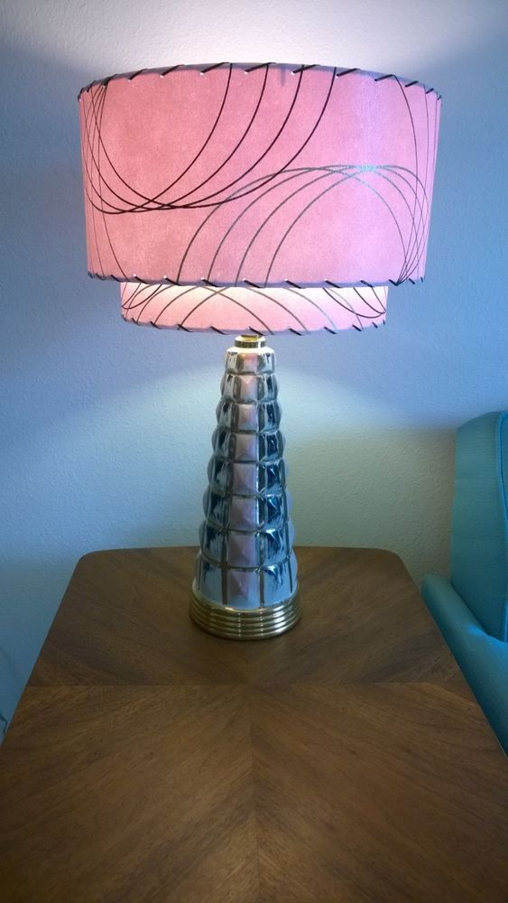 Mid Century Vintage Style 2 Tier Fiberglass Lamp Shade