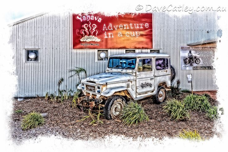 Off road in a #Toyota 4WD the #Yahava Koffeeworks way! #swanvalley #perth  Awesome place for coffee:)