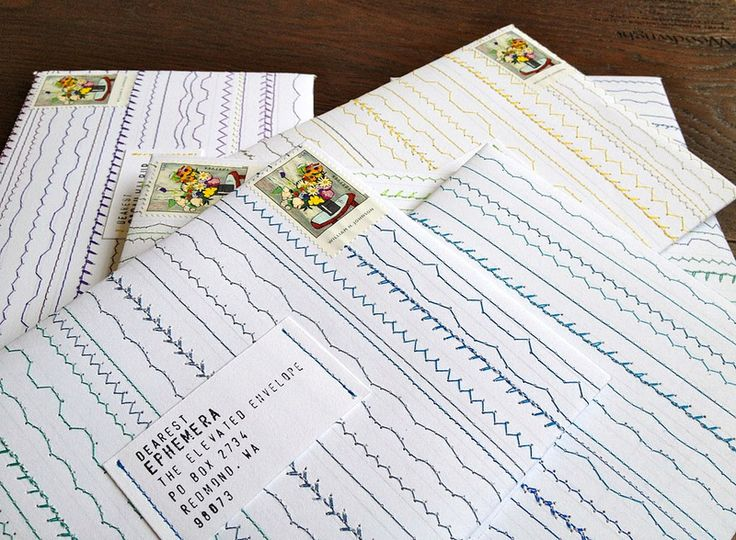 stitched envelopes