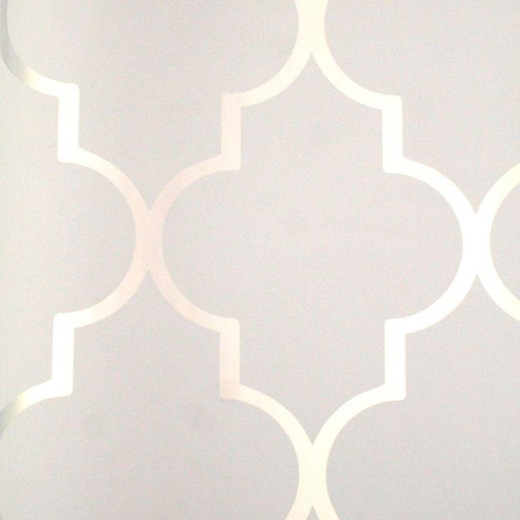 Astek // Mood Living Alahambra Silver Reflective Wallpaper