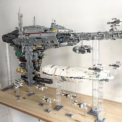 An amazing Lego Star Wars fleet!
