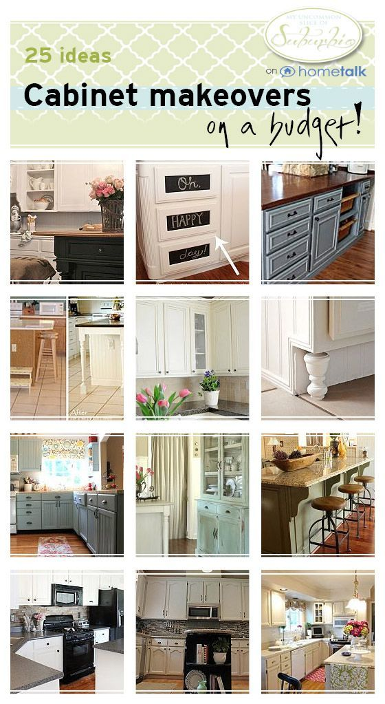 25 ways to makeover your kitchen cabinets on a budget