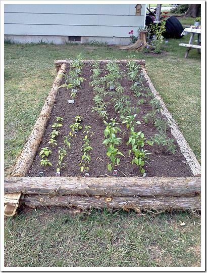 Mama Sarahs Cedar Log Raised Garden Bed