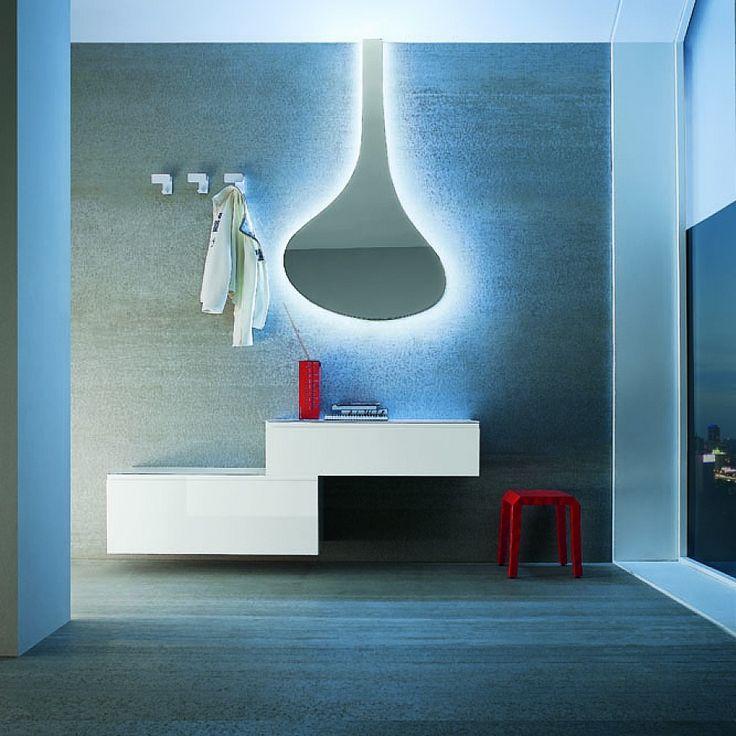 Hallway furniture set with mirror & cabinets Logic