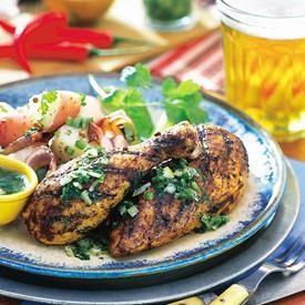 Pollo a la Parrilla Estilo Suroeste con Mantequilla y Limón