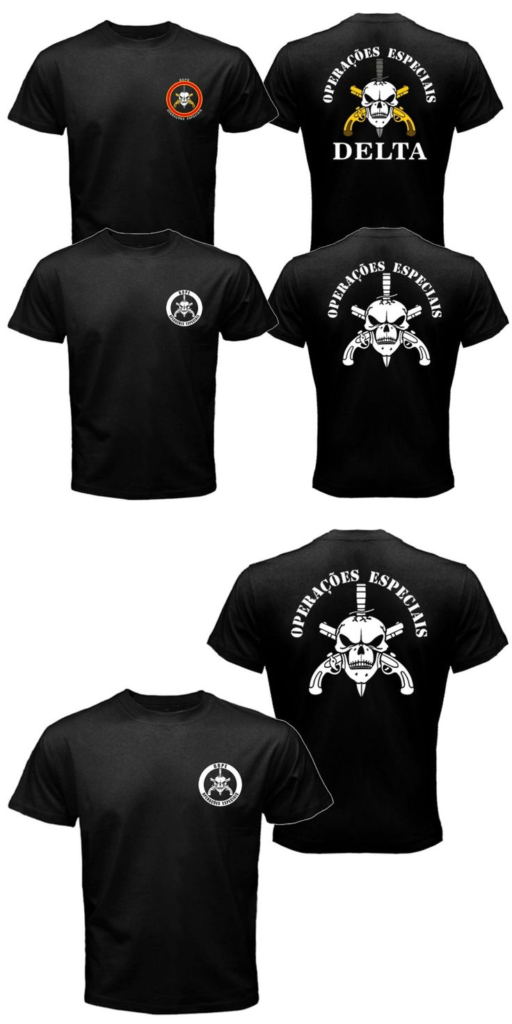 New BOPE Elite Death Squad Brazil Special Force Unit Military Police T-shirt Tee Mens 100% Cotton Plus Size
