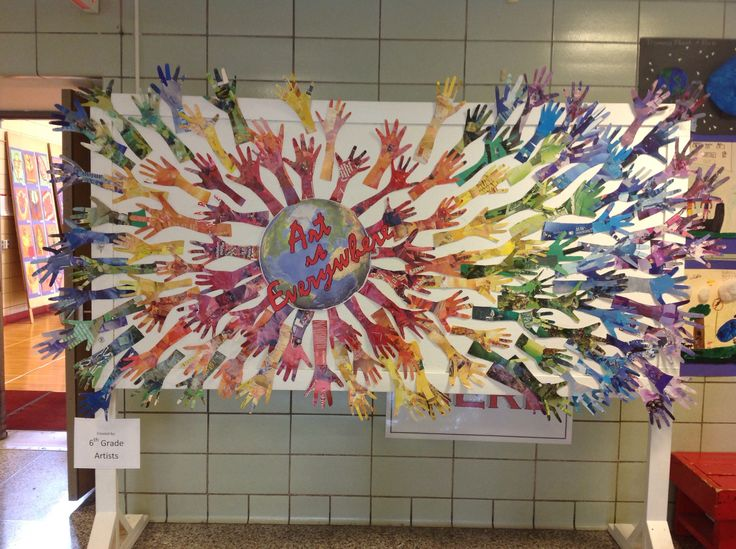 238 best murals group class projects images on pinterest for Group craft projects for adults