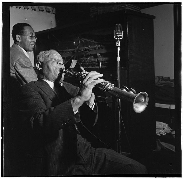 Sidney Bechet and Lloyd Phillips, Jimmy Ryan's (Club), New York, N.Y., ca. June 1947 by The Library of Congress