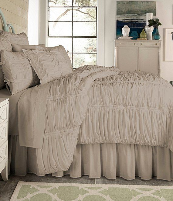 Allegro Ruched Cotton Percale Comforter, Studio D Allegro Bedding