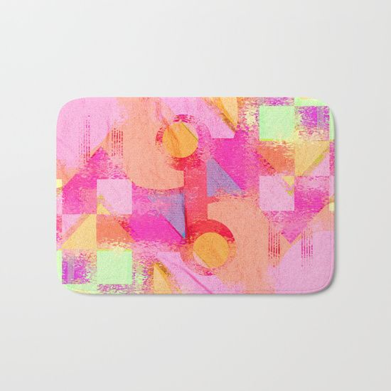 Perfect #pink bath mat! :)  20% OFF + FREE WORLDWIDE SHIPPING - #SALE ENDS TONIGHT AT MIDNIGHT PT  #bathmat #society6 #rusty #cool #wornout #discount #freeshipping