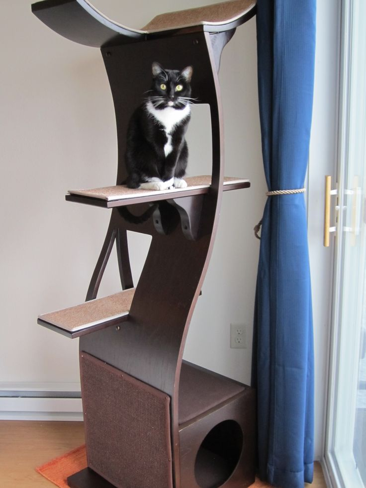 attractive modern cat tower that matches your homesu0027 decor luxury wooden cat towers beautifully designed and easy to clean durable
