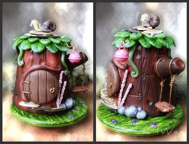 tiny teapot  Casita para las hadas de Lorena by ArtWen, via FlickrPolymerclay, Casitas Para, For, Fairies, De Lorena, Fairies House, Fairy, Clay Creations, Polymer Clay
