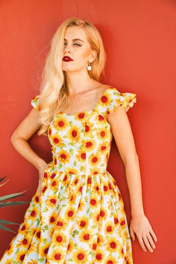 White Strawberry Dress Summer Dress Vintage Dress Rockabilly Pin Up Dress 50s Retro Swing Party Dress Holiday Dress Beach Dress
