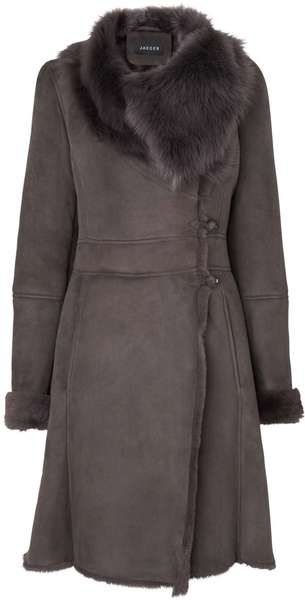 Jaeger Shearling Coat - Lyst (Gorgeous...but so expensive.)