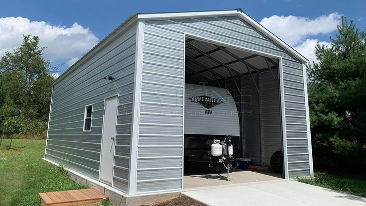 20'x35'x12' RV Garage in 2020 Shed storage, Shed design