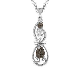 Ornate Butterfly Infinity Pendant #jewlr