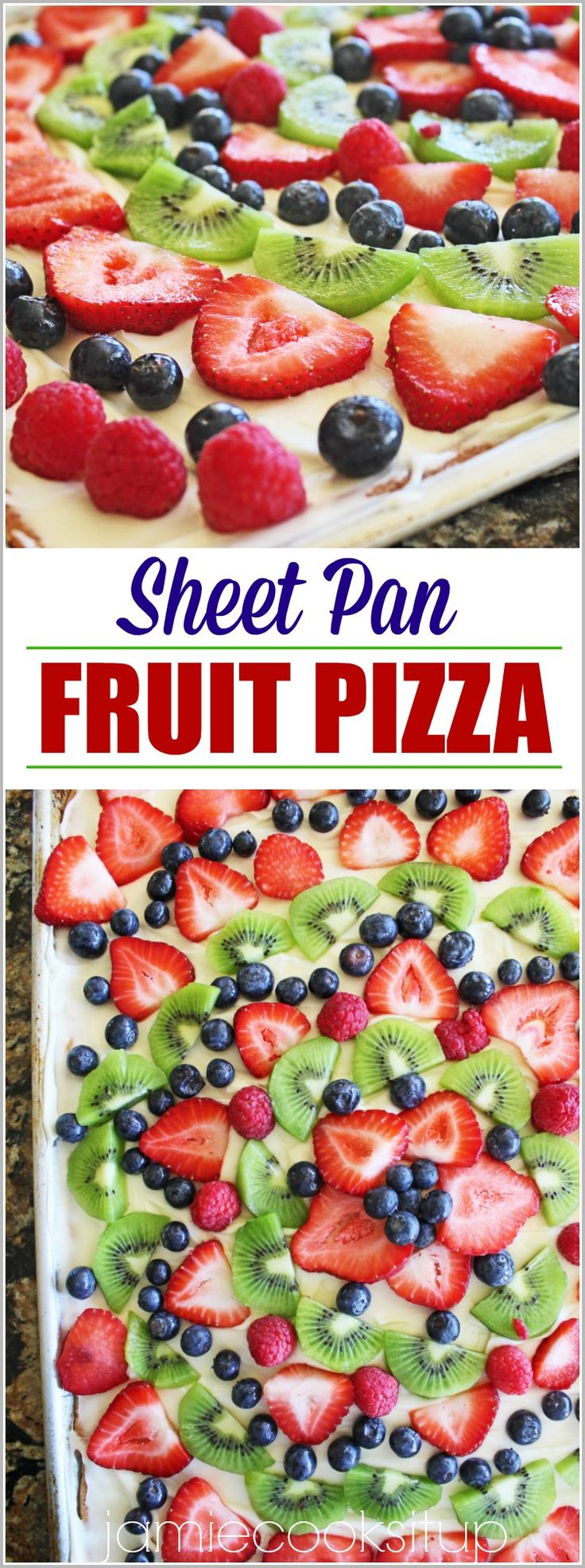 If I coulddo anything in my power to convince you to make this amazing Fruit Pizza, I would do it my friends. Not only is it stunning to look at…not only will it produce many servings to fee…