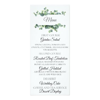 The 25+ best Diy menu cards ideas on Pinterest Diy wedding menu