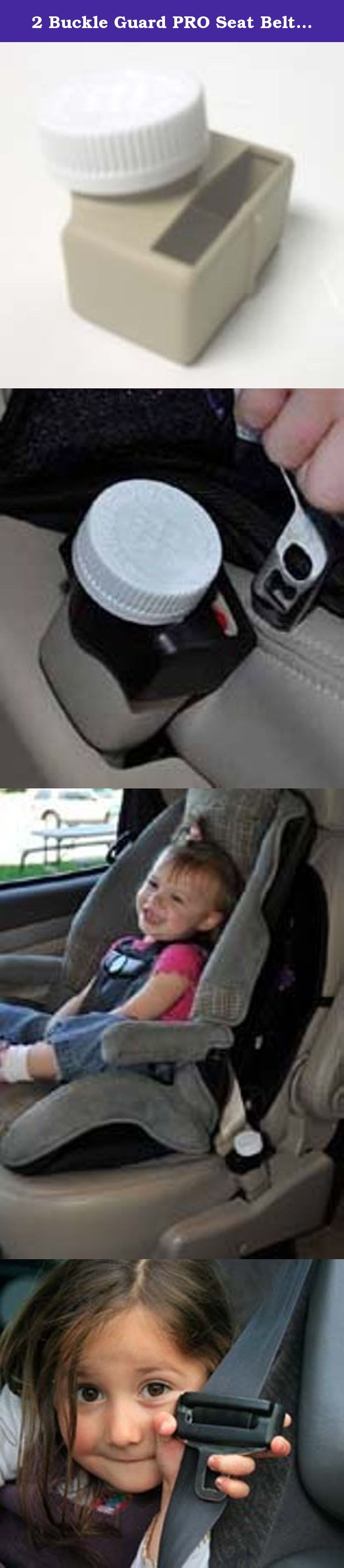 """2 Buckle Guard PRO Seat Belt Button Covers (Tan). Buckle Guard PRO has arrived, and not a minute too soon! In 1994, McNaughton Inc. introduced Seat Belt Buckle GuardTM, the first, patented child safety device that deterred children from unbuckling their seat belts while riding in a motorized vehicle. New Buckle Guard PRO is more universal than the original Buckle Guard and It has a sleek design and, of course, the famous FDA approved """"Push and Turn"""" child safety cap that is used to secure..."""
