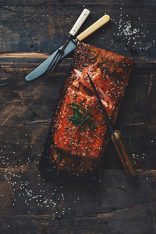 maple syrup bbq'ed salmon...samuel joubert