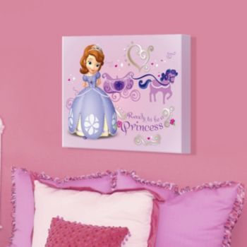 "Disney Sofia the First ""Ready to be a Princess"" 16'' x 20'' Canvas Wall Art"