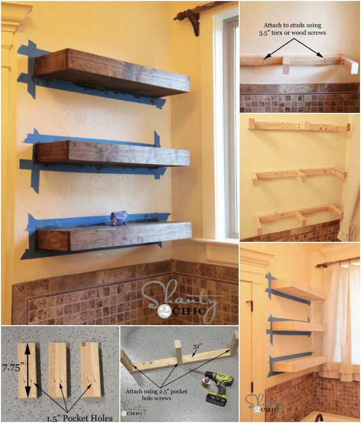 Best 25 Wooden Floating Shelves Ideas On Pinterest