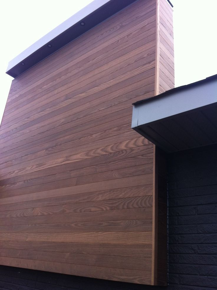 Thermory Ash And Pine Cladding Comes Pre Oiled With Cutek