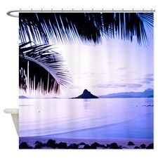 Kaneohe Bay Dawn Tropical Shower Curtain for