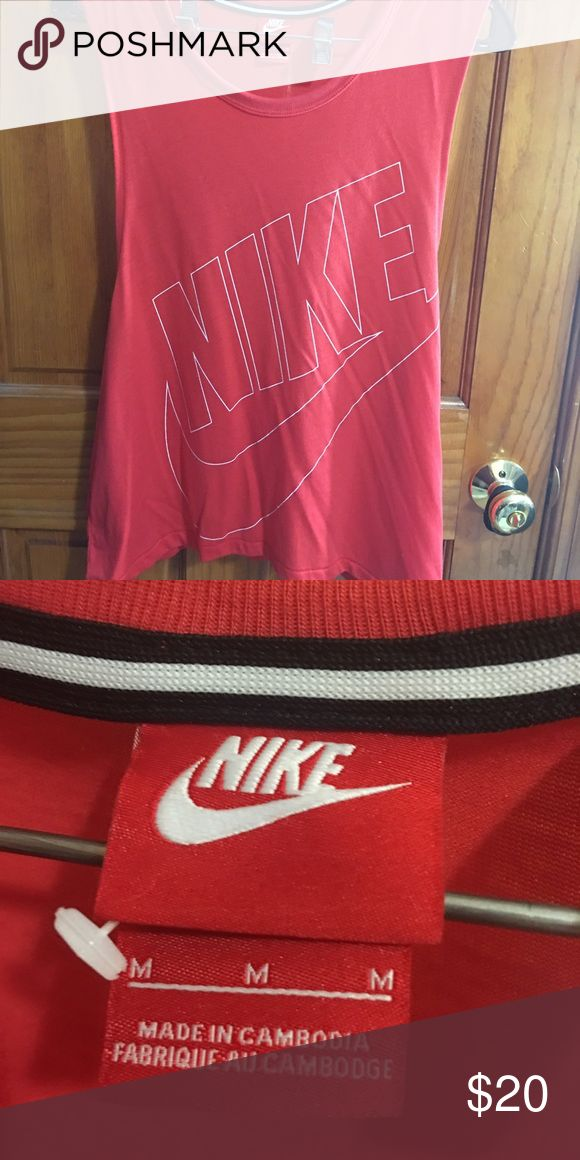 Nike Tank Top (M) Nike Tank Top, red, sleeve-less, never worn, new, no tags Nike Tops Muscle Tees