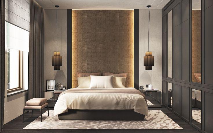 Schöne Schlafzimmer mit trendigen und stilvollen Design-Ideen bringen ein Gefühl der Gemütlichkeit