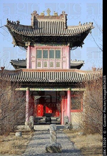 Principal museo templeTemple del Choijin Lama Ulan-Bator Mongolia