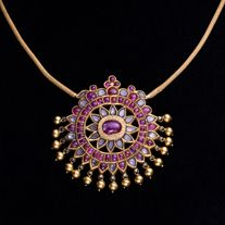 A Ruby and Diamond Pendent, South India Mysore 19th Century