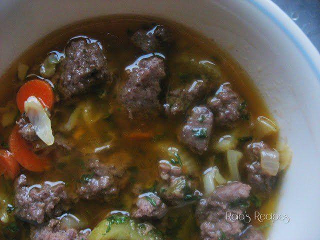 Beef & Cabbage Soup | grain-free, dairy-free, sugar-free | RaiasRecipes.com