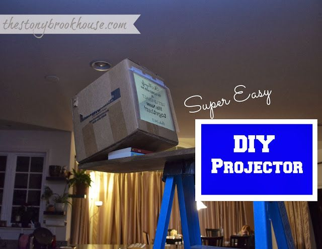DIY Overhead Projector ~ Super Easy www.thestonybrookhouse.com