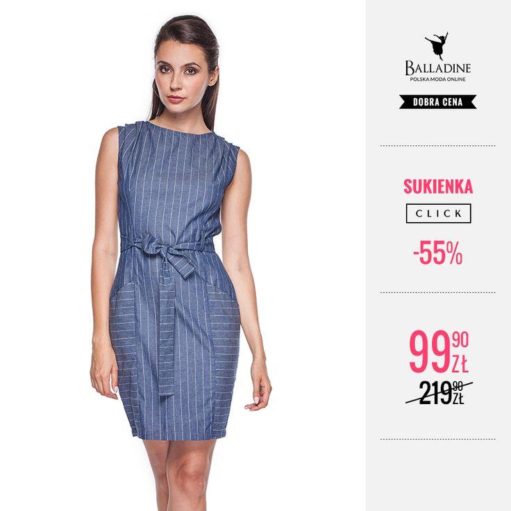 Na dziś przygotowaliśmy dla Was podkreślającą kobiece atuty sukienkę marki Click, w której z pewnością nie pozostaniecie niezauważone. Sprawdzi się zarówno do biura jak i podczas mniej formalnych okoliczności.  >> http://goo.gl/vHUvfY