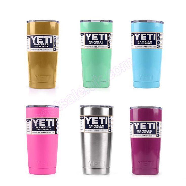 20oz YETI Tumbler Rambler Cups Cooler Yeti Cup 304 Stainless Steel & 6…