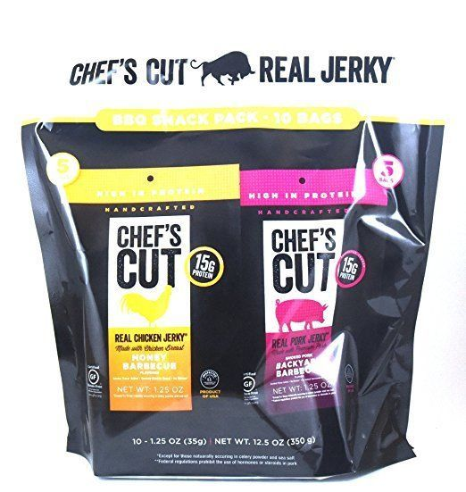 Buffalo Beef and Turkey Jerky 115716: Chef S Cut Real Jerky Variety Bbq Pack, 10 Count, 12.5 Oz ~ 3 Packages -> BUY IT NOW ONLY: $45 on eBay!