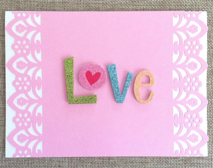 Love Glitters Valentine's Day Card