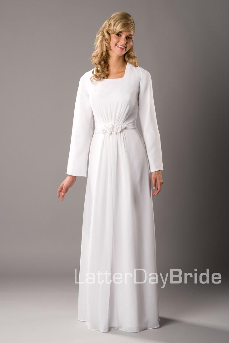 42 best temple dresses images on pinterest lds temples for Cheap lds wedding dresses