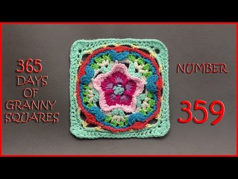 CHREEY BLOSSOM IN THE SNOW .....365 Days of Granny Squares Number 359 - YouTube