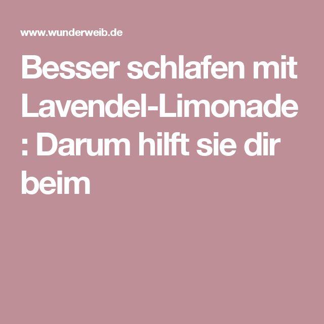 Besser schlafen mit Lavendel-Limonade: Darum hilft sie dir beim