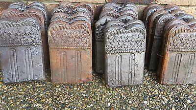 21 old antique Australian Pottery GARDEN EDGE TILES from Ipswich Queensland