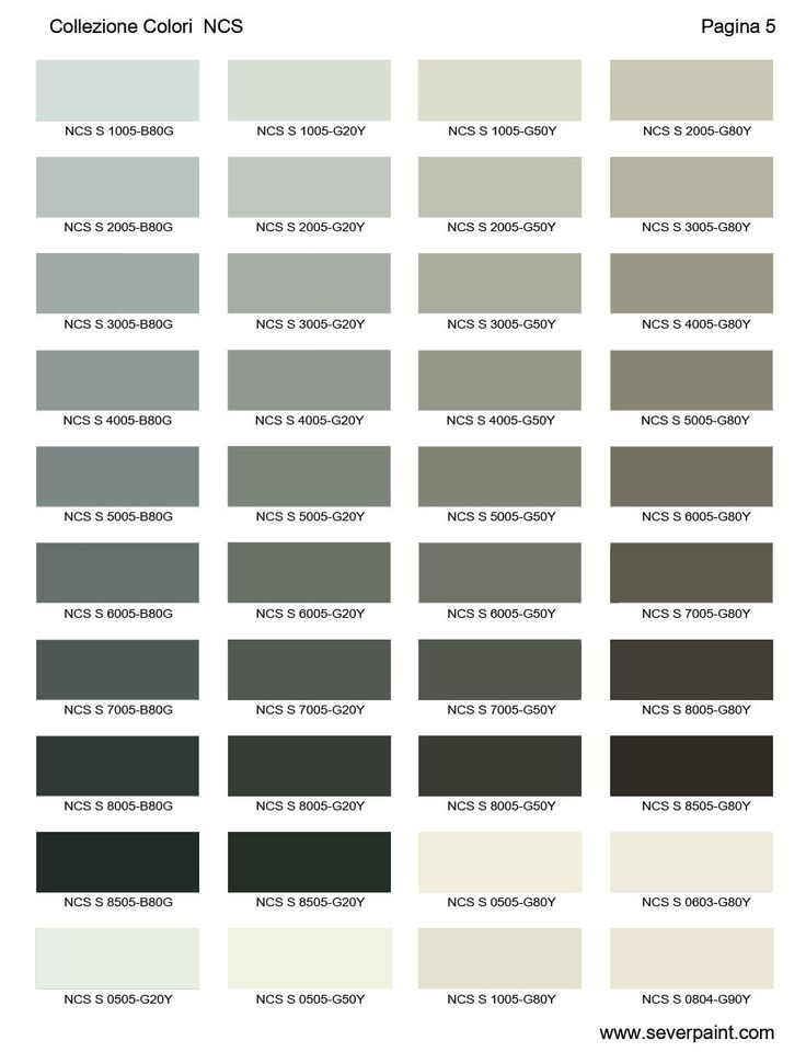 cartella colori ncs 1950 severpaint colori e vernici. Black Bedroom Furniture Sets. Home Design Ideas